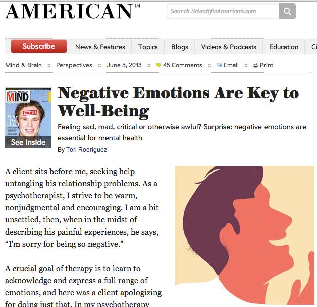 Why EFT Uses Negative Emotions